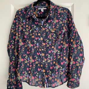 Floral Old Navy Button Down